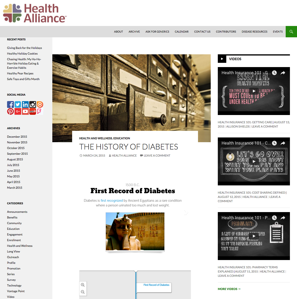 The History of Diabetes Blog Post