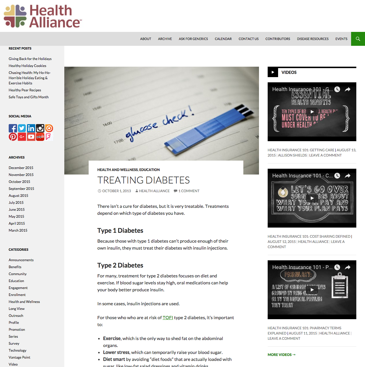 Diabetes Blog Post