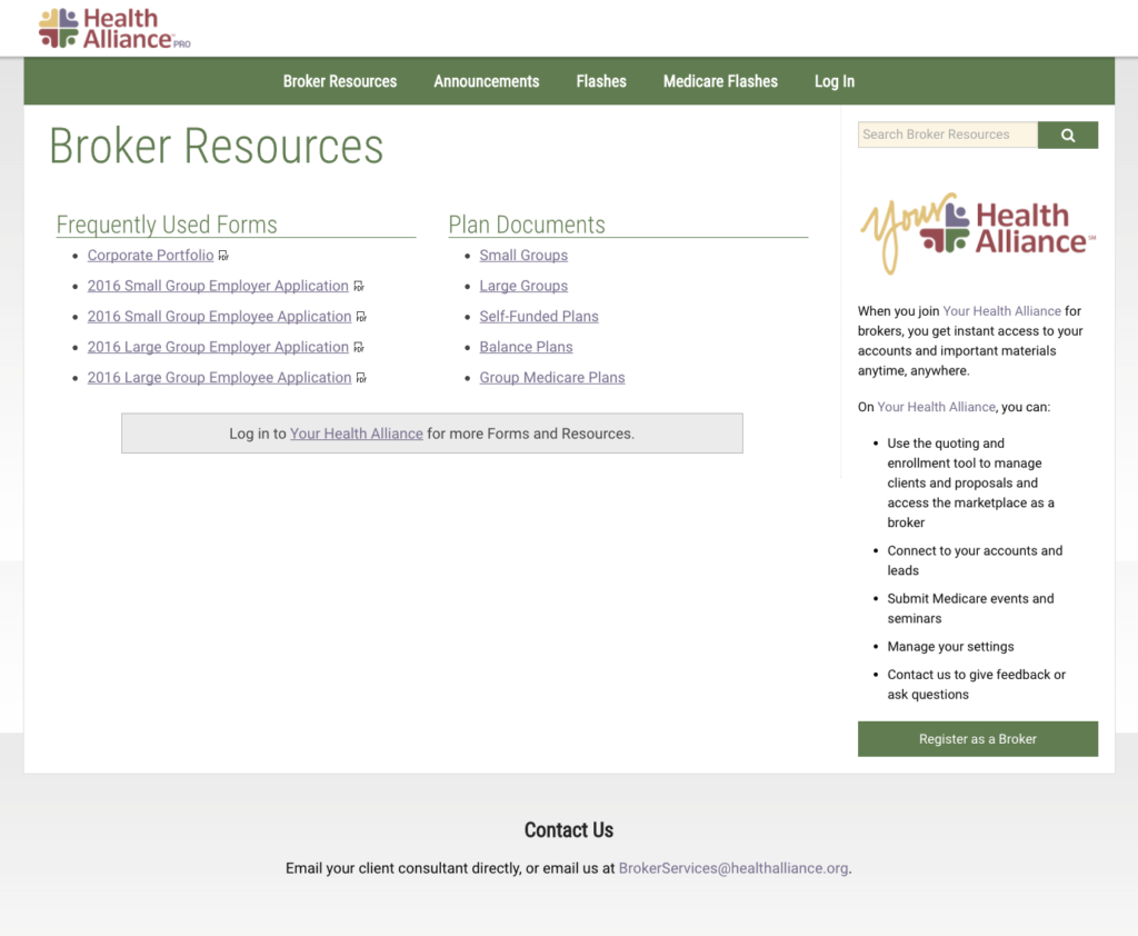 Broker Resources Page