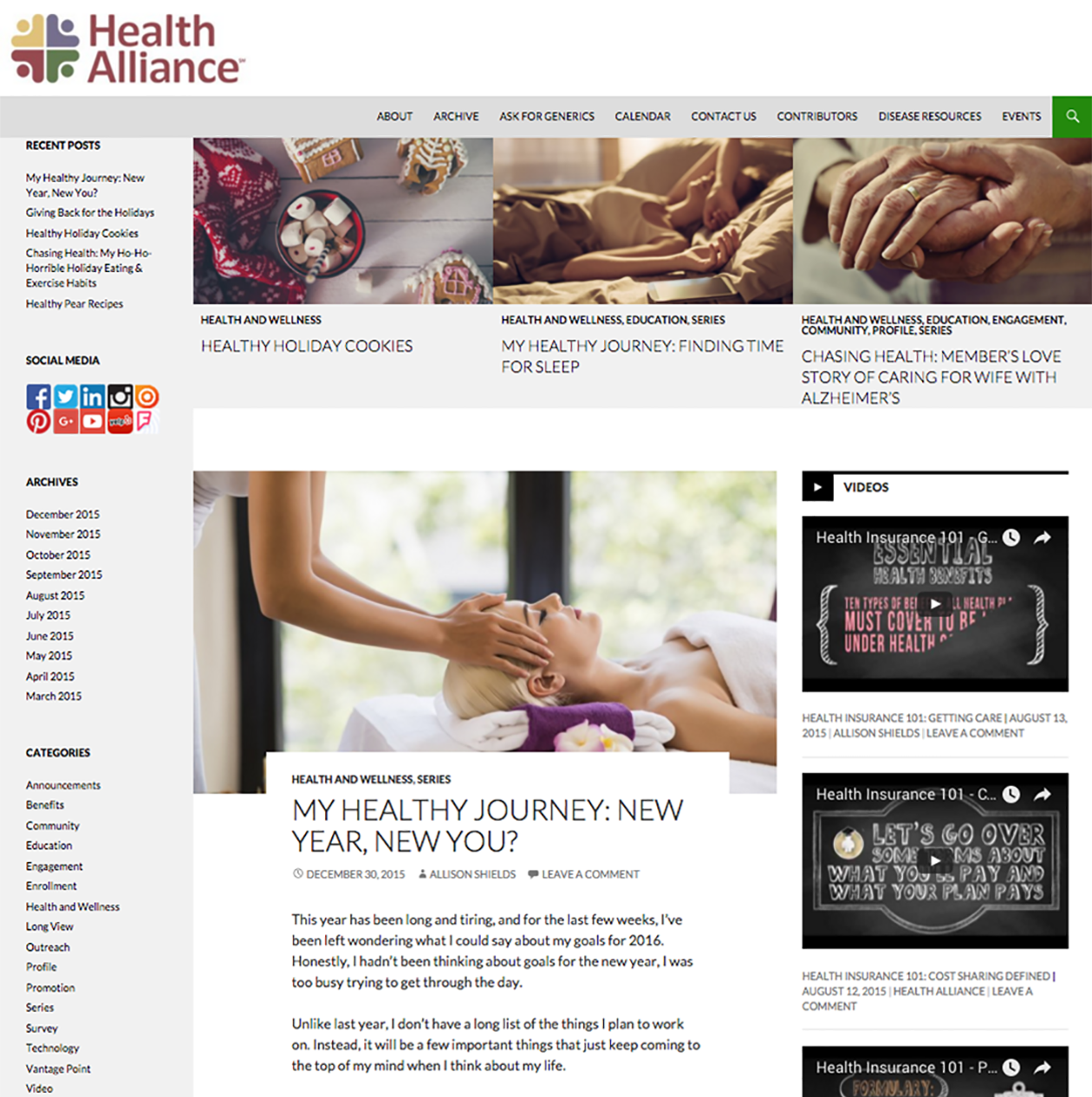 Health Alliance Blog Home