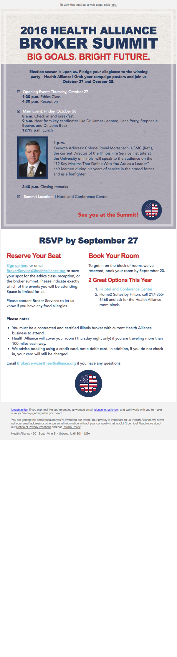 Broker Summit 2016 Invite
