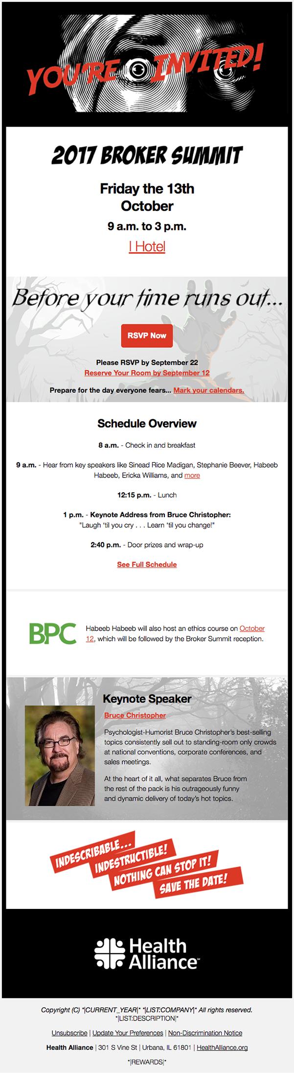 Broker Summit 2017 Invite