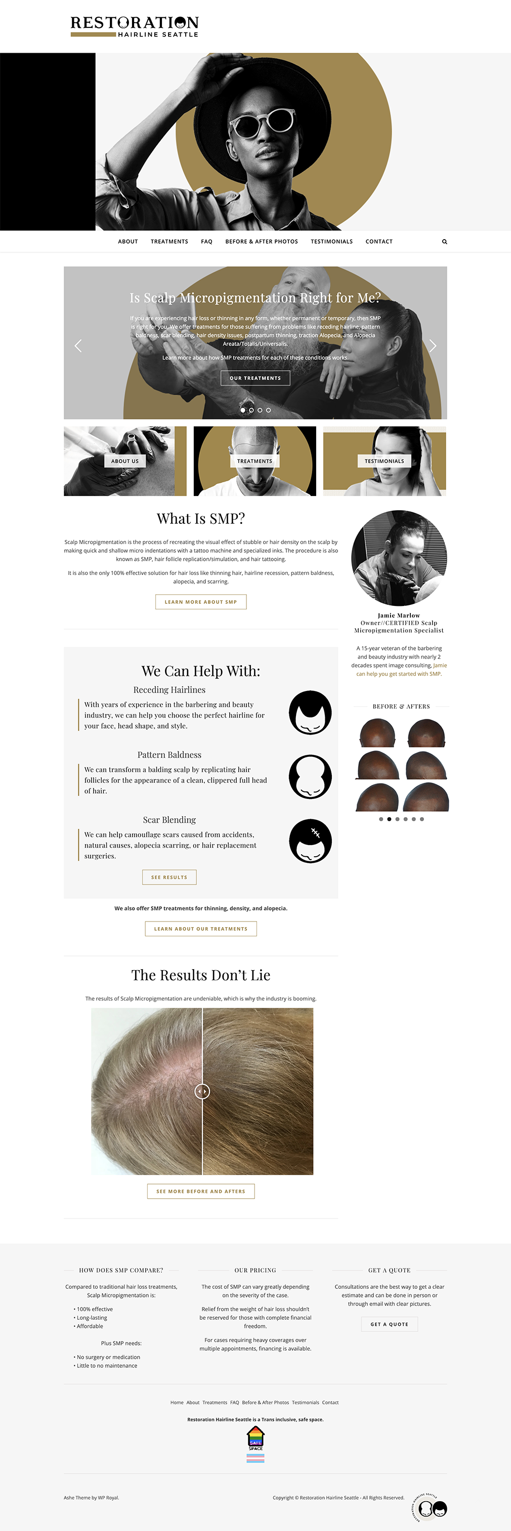 Restoration Hairline Seattle Homepage