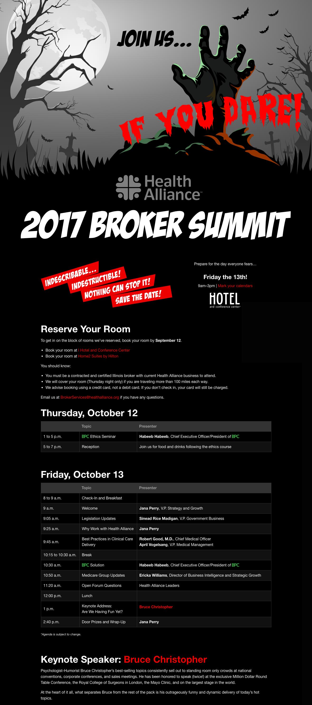 Broker summit landing page