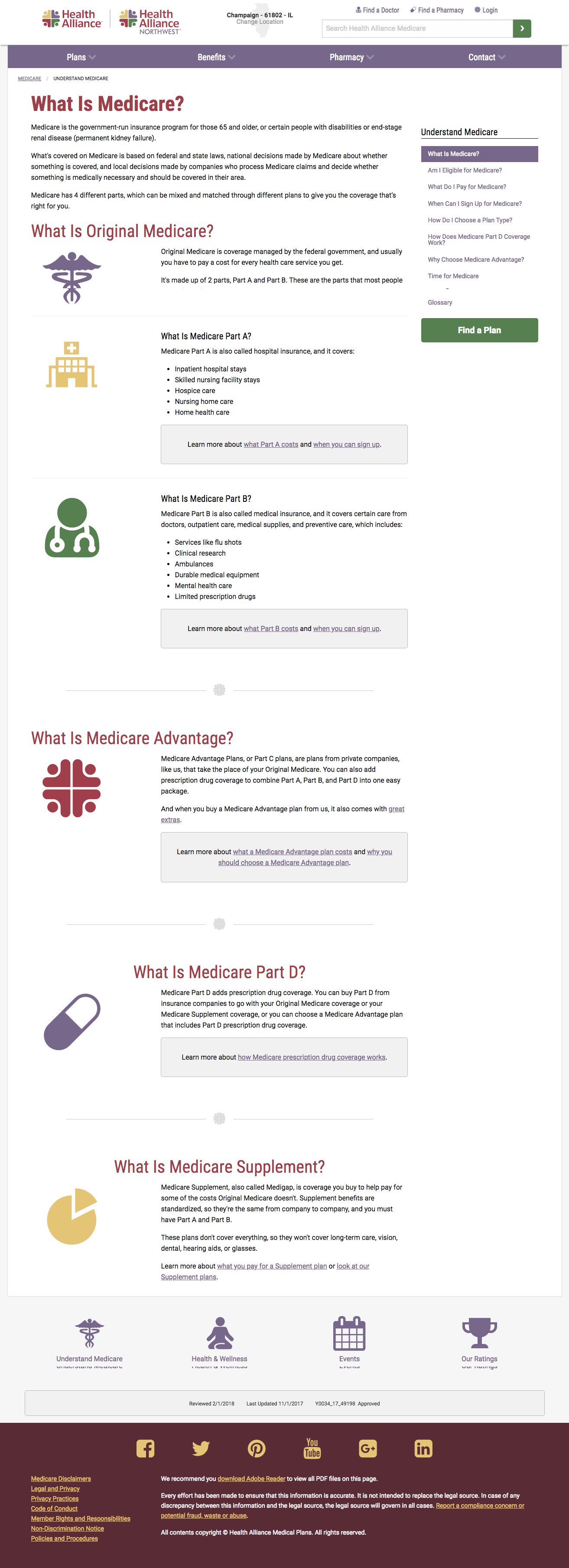 Understand Medicare section landing page